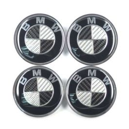 4pcs Bmw 68mm Carbon Fiber Car Wheel Center Logo Cap