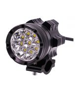 2pcs 9 beads LED Headlight with Aluminium body and accessories kit for Motorcycle, Electric bike