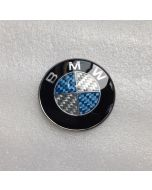 NEW Car Styling High Quality Real Carbon Fiber 45mm BMW Steering Wheel Badges/Emblems/Logo Sticker , Wholesale Price ,Free Shipping