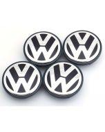 4PCS 55mm Alloy Wheel Center Caps Hubcap Badge Emblem for Volkswagen VW Golf Fox