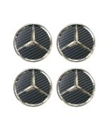 4pcs New Carbon MERCEDES BENZ 75MM 3INCH Wheel Center Caps HUB Caps for ML SL CLK SLK