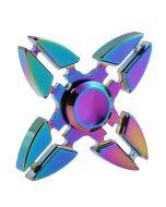 Tri Fidget Hand Spinner Triangle Brass Finger Toy EDC Focus ADHD Autism