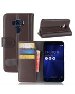 Asus 3 ZE520KL Phone Case Genuine leather Wallet Flip Cover Stand Display Card Pocket