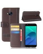 Asus 4 selfie ZD552KL Phone Case Genuine leather Wallet Flip Cover Stand Display Card Pocket