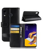 Asus 5 ZE620KL Phone Case Genuine leather Wallet Flip Cover Stand Display Card Pocket