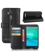 Asus GO ZB552KL Phone Case Genuine leather Wallet Flip Cover Stand Display Card Pocket