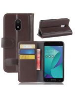Asus V Live V500KL Phone Case Genuine leather Wallet Flip Cover Stand Display Card Pocket