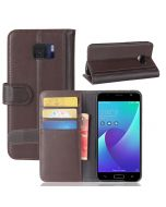 Asus V V520KL Phone Case Genuine leather Wallet Flip Cover Stand Display Card Pocket