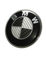NEW BMW really carbon fiber EMBLEM 2 Pins LOGO REAR TRUNK BADGE ROUNDEL 74MM E46 E90