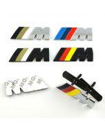 Chrome Metal M Power Car Front Grille M Badge Logo EMBLEM for BMW M3 X5 E46