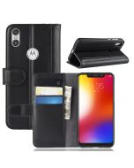 Genuine leather MOTO One P30 Play Phone Case Wallet Flip Cover Stand Display Card Pocket