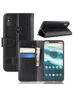 Genuine leather MOTO One Power (P30 Note) Phone Case Wallet Flip Cover Stand Display Card Pocket