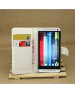 HTC One M7 /HTC M7 Phone Case Wallet Flip Cover Leather Stand Display Card Pocket