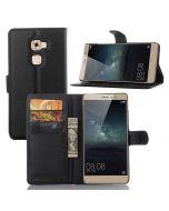 Huawei Mate S Ultra Slim Wallet Flip Cover Leather Phone Case Kickstand Card Pocket-Black