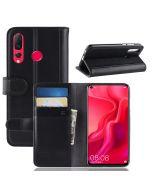 Huawei Nova 4 Phone Case Wallet Flip Cover Folio Genuine Leather Case Stand Display Card Pocket