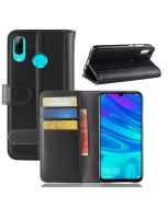 Huawei Y7 2019 Phone Case Wallet Flip Cover Folio Genuine Leather Case Stand Display Card Pocket