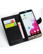 LG G3S LG D722 G3 mini D728 G3 Beat Phone Case Wallet Flip Cover Leather Stand Display Card Pocket