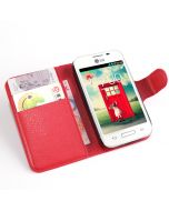 LG L40 D160 Single SIM Phone Case Wallet Flip Cover Leather Stand Display Card Pocket
