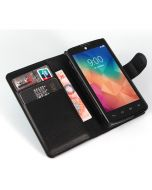 LG L60 DUAL SIM Phone Case Wallet Flip Cover Leather Stand Display Card Pocket