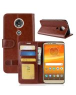 MOTO E5 Plus (BR/EU) Flip Folio Leather Wallet Case with ID and Credit Card Pockets