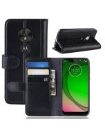 MOTO G7 Play (EU) Phone Case Wallet Flip Cover Folio Genuine Leather Case Stand Display Card Pocket