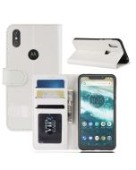 MOTO One Power /P30 Note Flip Folio Leather Wallet Case with ID and Credit Card Pockets