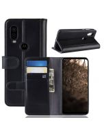 MOTO P40 Phone Case Wallet Flip Cover Folio Genuine Leather Case Stand Display Card Pocket