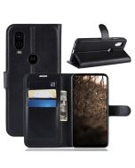 MOTO P40 Phone Case Wallet Flip Cover Folio Leather Case Stand Display Card Pocket