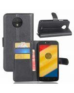 Motorola Moto E4 Plus Wallet Flip Cover Leather Phone Case Kickstand Card Pocket