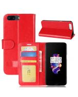 OnePlus 5 Flip Folio Leather Wallet Case with ID and Credit Card Pockets