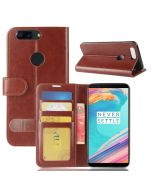 OnePlus 5T Flip Folio Leather Wallet Case with ID and Credit Card Pockets