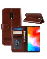 OnePlus 6T Flip Folio Leather Wallet Case with ID and Credit Card Pockets