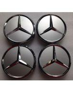 4pcs New Silver MERCEDES BENZ 75MM 3INCH Wheel Center Caps HUB Caps for ML SL CLK SLK
