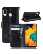Samsung A30 /Samsung A20 Phone Case Wallet Flip Cover Folio Genuine Leather Case Stand Display Card Pocket