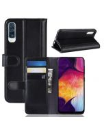 Samsung A50 Phone Case Wallet Flip Cover Folio Genuine Leather Case Stand Display Card Pocket