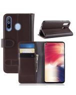 Samsung Galaxy A8s Phone Case Wallet Flip Cover Folio Genuine Leather Case Stand Display Card Pocket