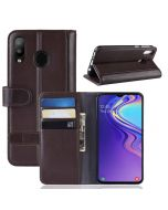 Samsung M20 Phone Case Wallet Flip Cover Folio Genuine Leather Case Stand Display Card Pocket