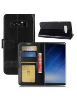 Samsung Note 8 Flip Folio Leather Wallet Case with ID and Credit Card Pockets