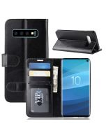 Samsung S10 Flip Folio Leather Wallet Case with ID and Credit Card Pockets