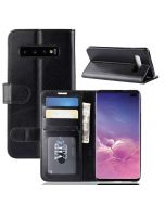 Samsung S10 Plus Flip Folio Leather Wallet Case with ID and Credit Card Pockets