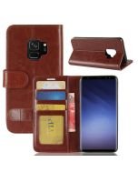 Samsung S9 Flip Folio Leather Wallet Case with ID and Credit Card Pockets