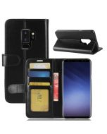 Samsung S9 Plus Flip Folio Leather Wallet Case with ID and Credit Card Pockets