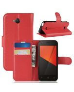 Vodafone Smart C9 Phone Case Wallet Flip Cover Folio Leather Case Stand Display Card Pocket