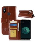 Xiaomi 6X /Xiaomi Mi A2 Flip Folio Leather Wallet Case with ID and Credit Card Pockets