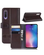 Xiaomi 9 SE Phone Case Wallet Flip Cover Folio Genuine Leather Case Stand Display Card Pocket