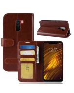 Xiaomi Pocophone F1 Flip Folio Leather Wallet Case with ID and Credit Card Pockets