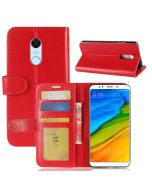 Xiaomi Redmi 5 Plus Flip Folio Leather Wallet Case with ID and Credit Card Pockets