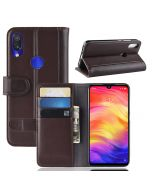 Xiaomi Redmi Note 7 Phone Case Wallet Flip Cover Folio Genuine Leather Case Stand Display Card Pocket