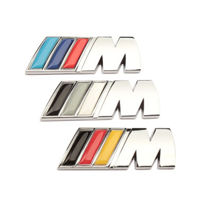 Chrome Metal M Power Car Front Grill M Badge Logo Emblem For Bmw M3