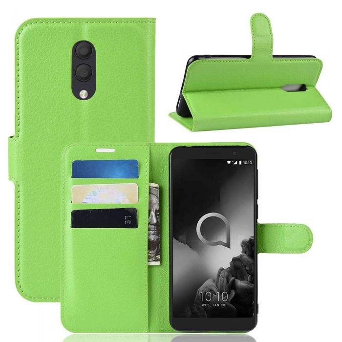 Alcatel 1X 2019 Phone Case Wallet Flip Cover Folio Leather Case Stand  Display Card Pocket
